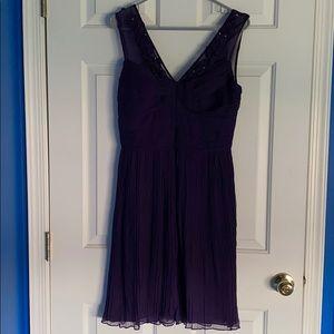 Taylor Purple Midi Dress Size 8